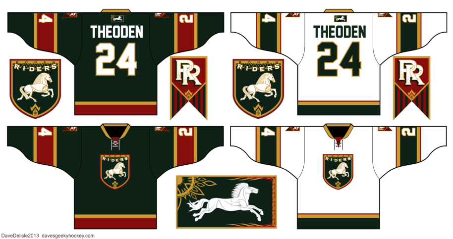 Lord Of The Rings Hockey Jersey Design LOTR Dave Delisle 2013