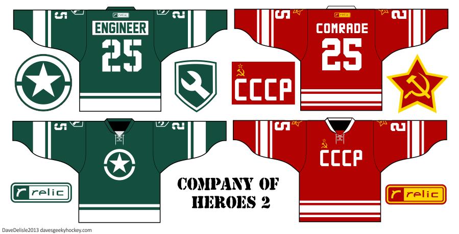 Company Of Heroes 2 hockey jerseys 2013 Dave Delisle Relic davesgeekyhockey.com