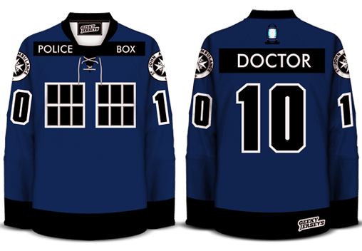 The Tardis 4.0 Hockey Jersey Doctor Who 2013 Dave Delisle