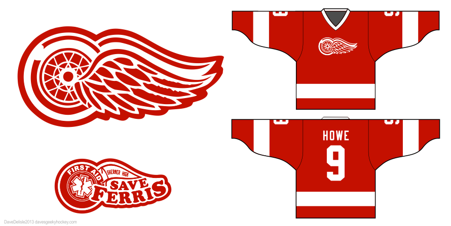 Ferris Bueller Gordie Howe hockey jersey