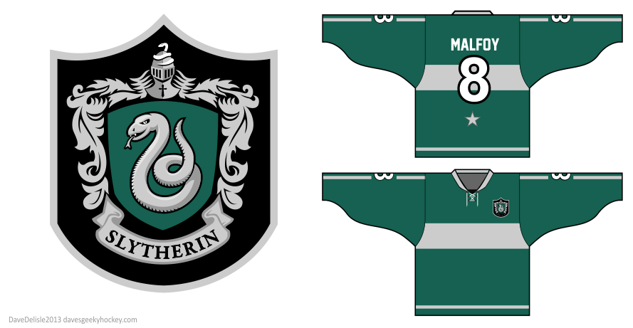 Slytherin Hockey jersey design by Dave Delisle