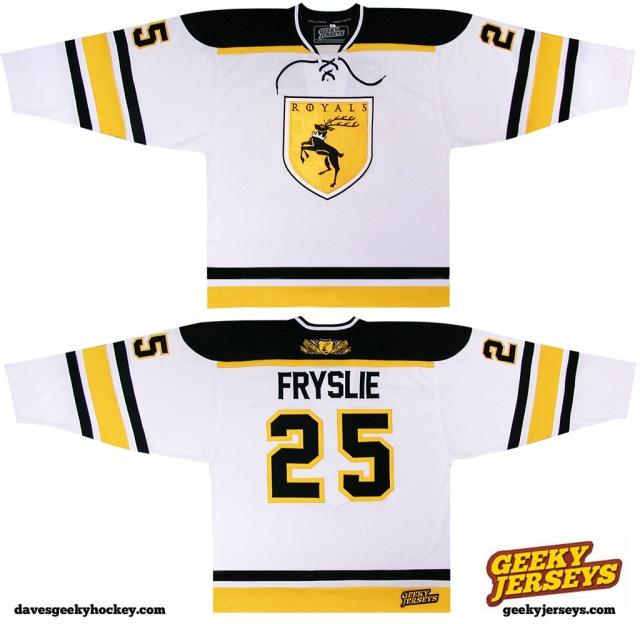 baratheon Sigil hockey jersey 2013 Dave Delisle Geeky Jerseys