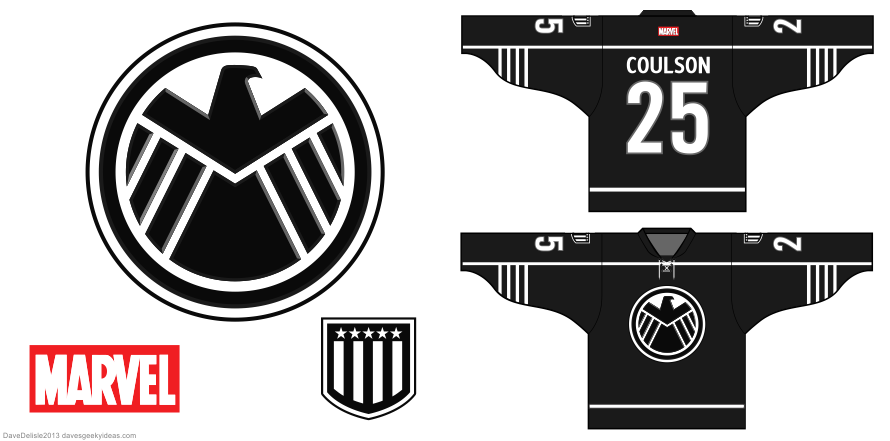 SHIELD hockey jersey design by Dave Delisle