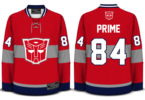 Transformers Hockey Jersey 80's Tees