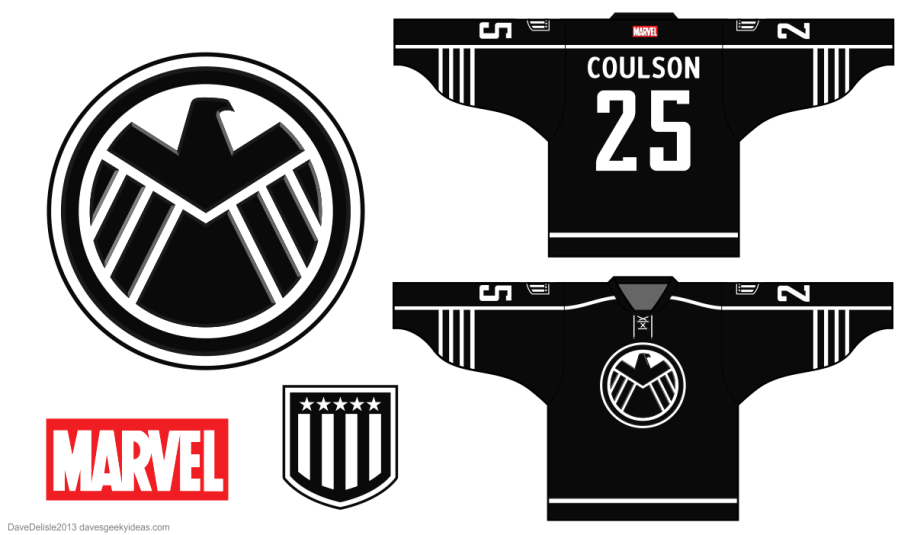 SHIELD Marvel Hockey Jersey 2013