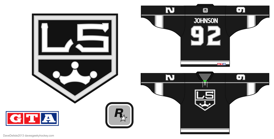 GTA hockey jersey design by Dave Delisle