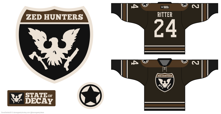 State of Decay hockey jersey design by Dave Delisle