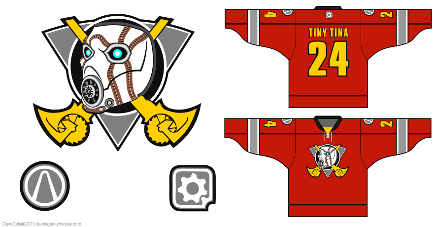 Borderlands hockey jersey design by Dave Delisle