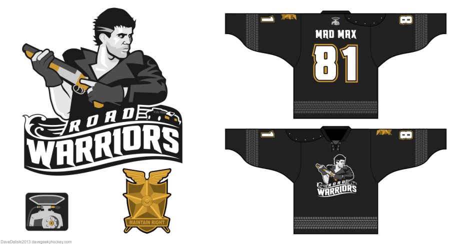 Mad Max hockey jersey by davesgeekyhockey