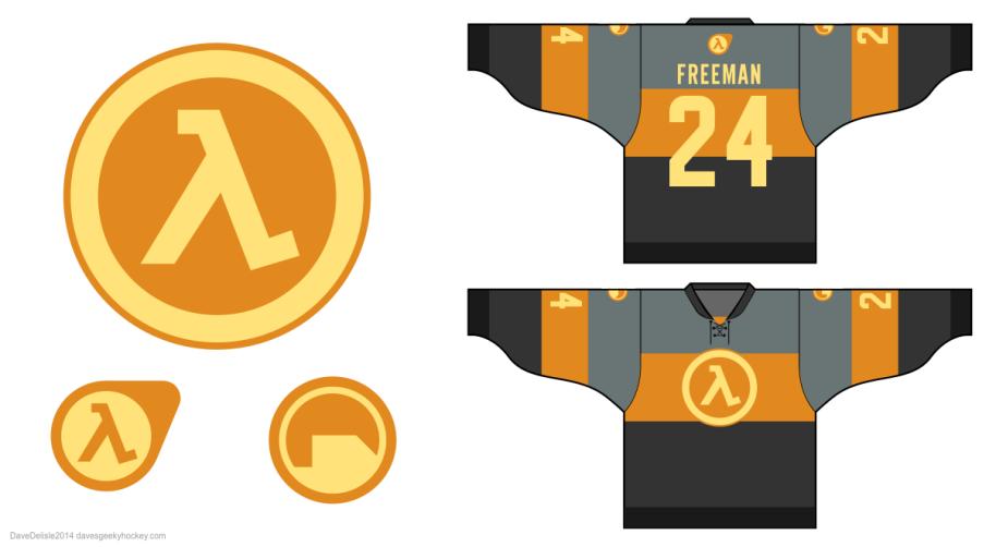 Half-Life hockey jersey davesgeekyhockey