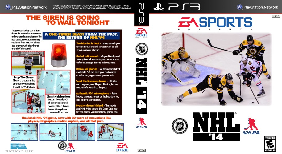 NHL 94 Cover for NHL 2014 2013 Legacy Mode PS3
