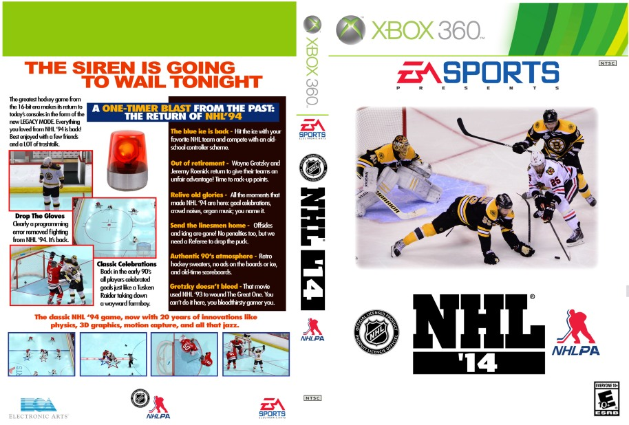 NHL 94 Cover for NHL 2014 2013 Legacy Mode