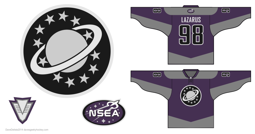 Galaxy Quest hockey jersey design by Dave Delisle