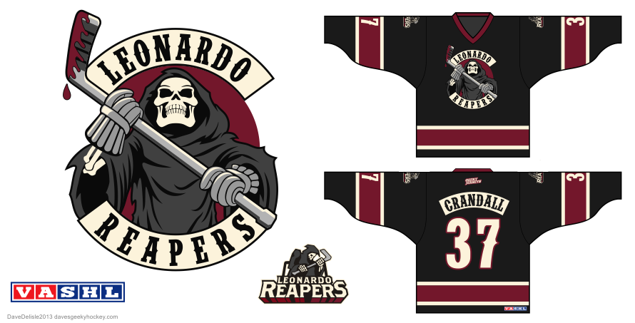 Leonardo Reapers hockey jersey by Dave Delisle