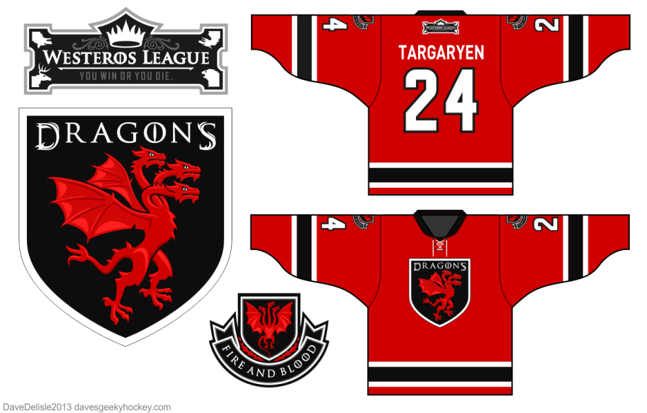 House Targaryen Hockey Jersey