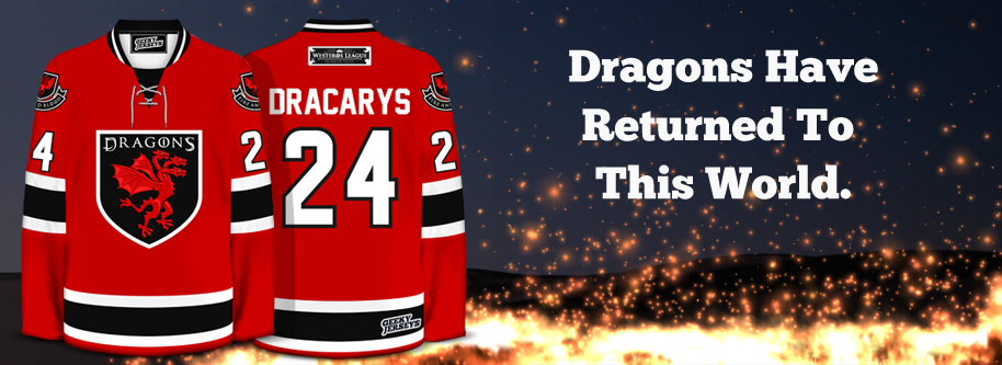 Targaryen Dragons Hockey Jersey