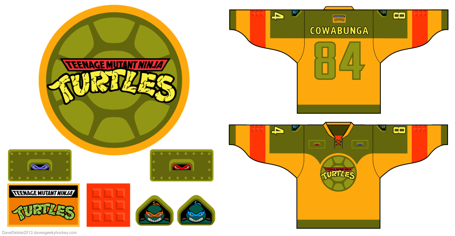 TMNT hockey jersey by Dave Delisle