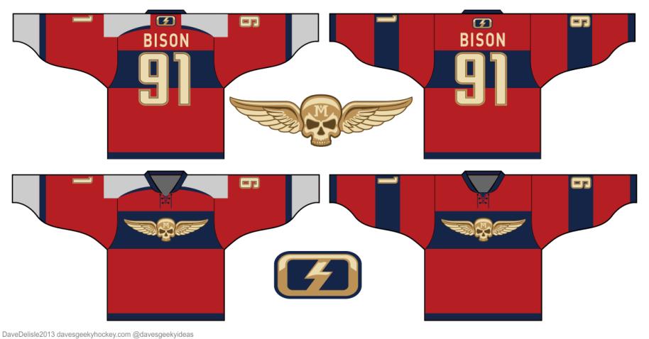 M. Bison hockey jersey