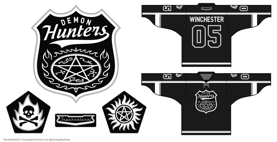 Supernatural hockey jersey by Dave Delisle