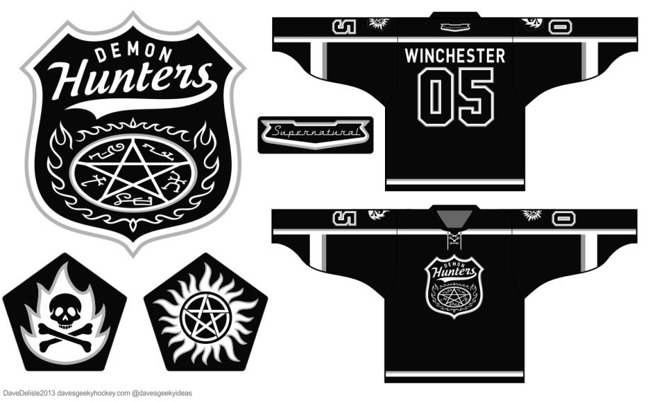 Supernatural Jack Daniels Demon Hunters Hockey Jersey