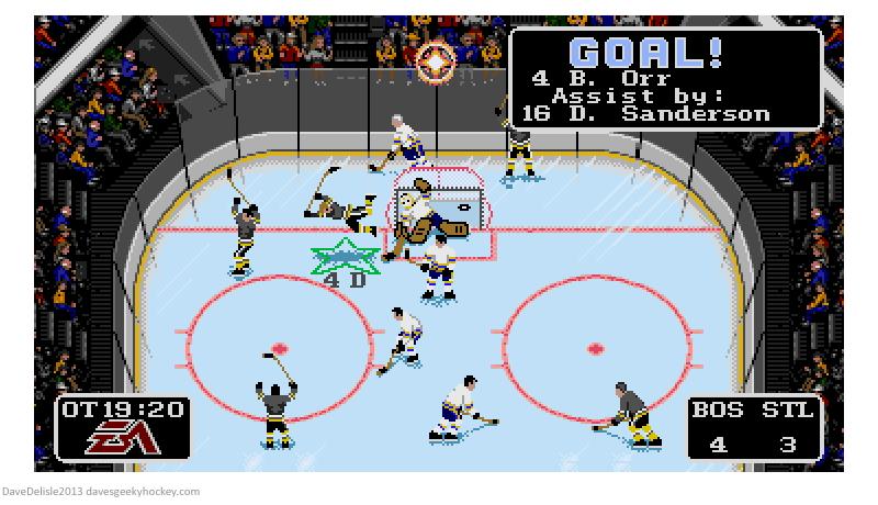 bobby orr NHL 94 goal 2013 davesgeekyhockey