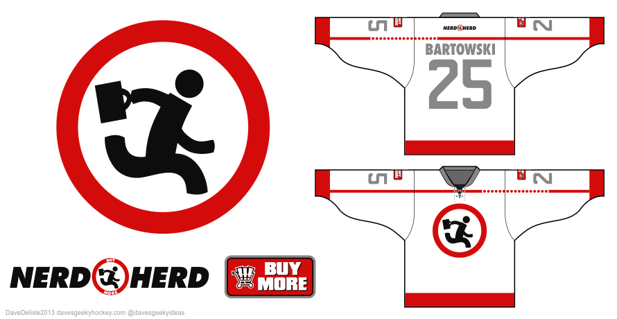 Chuck hockey jersey design by Dave Delisle