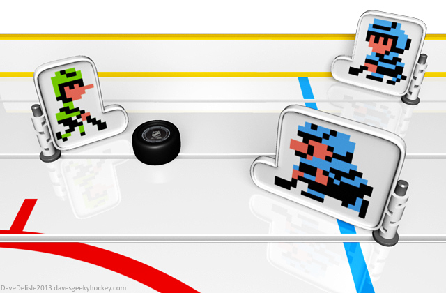 NES Ice Hockey Table Top by davesgeekyideas
