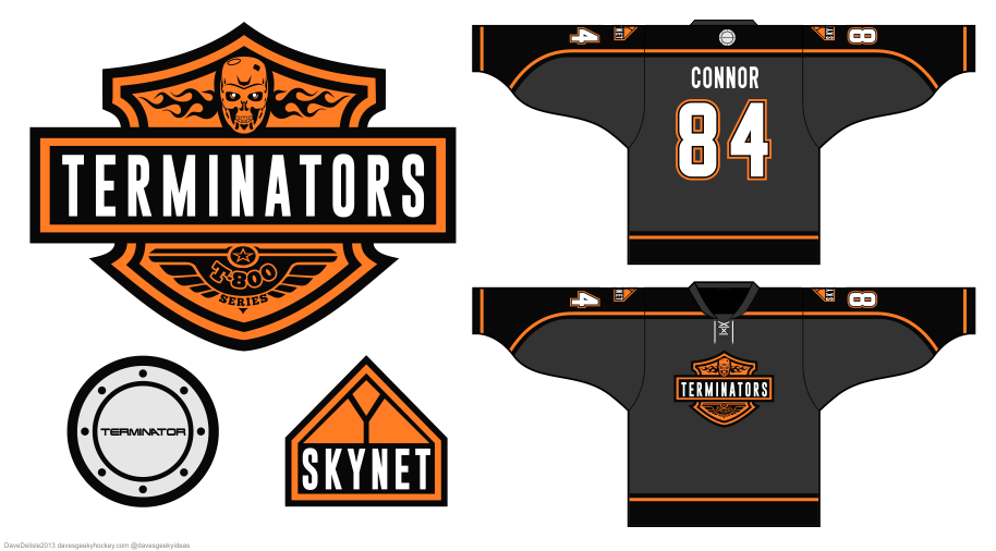 Terminator hockey jersey by Dave Delisle