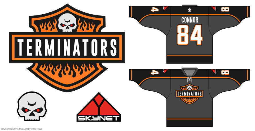 Terminators hockey jersey by Dave Delisle