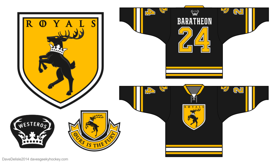House Baratheon Hockey Jersey