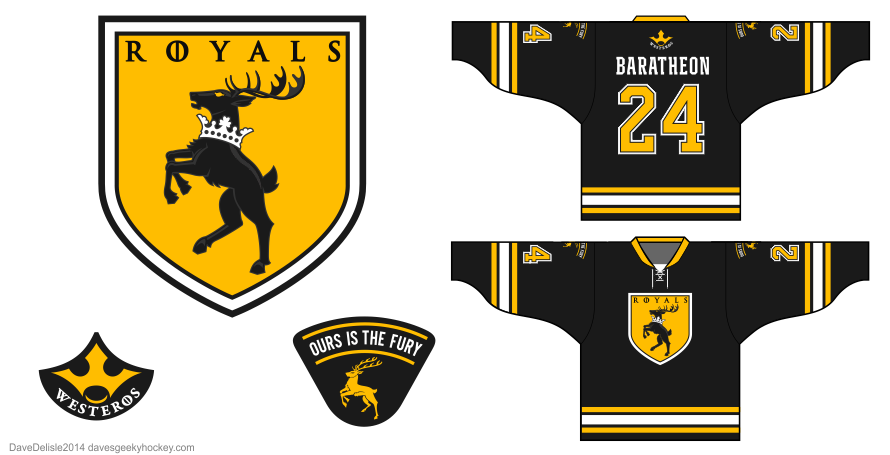 House baratheon hockey jersey by Dave Delisle