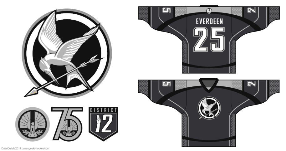 Hunger Games Hockey Jersey Design by davesgeekyhockey