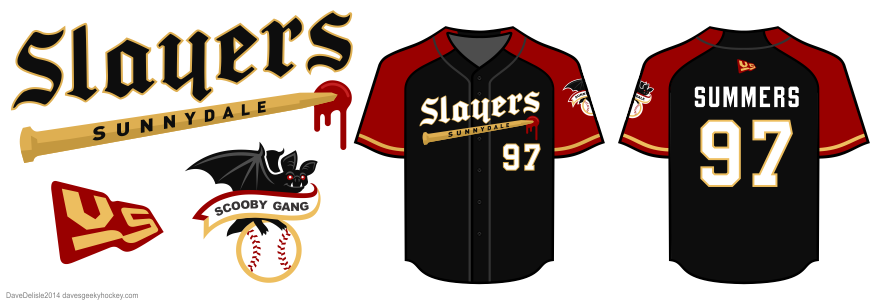 buffy slayers baseball jersey design by dave delisle