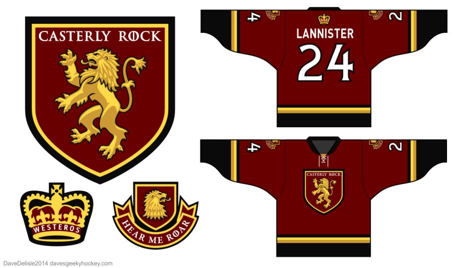House Lannister Sigil Lion Crest Logo 2014 Dave Delisle davesgeekyhockey