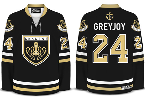 House Greyjoy Krakens Hockey Jersey Dave Delisle 2014