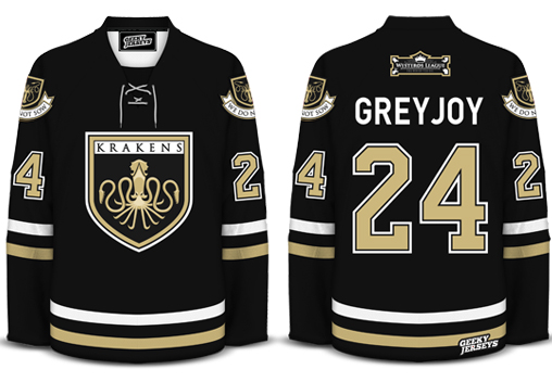 Greyjoy GoT hockey jersey design by davesgeekyideas