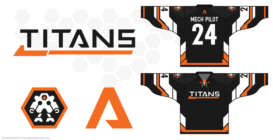 Titanfall hockey jersey design by Dave Delisle