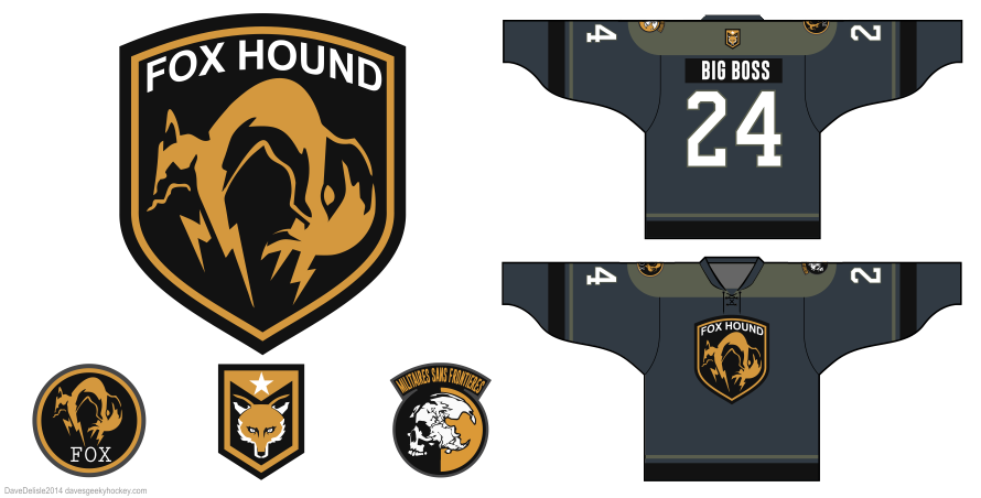 metal gear foxhound hockey jersey by Dave Delisle