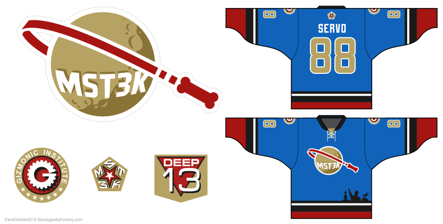 MST3K hockey jersey by Dave Delisle