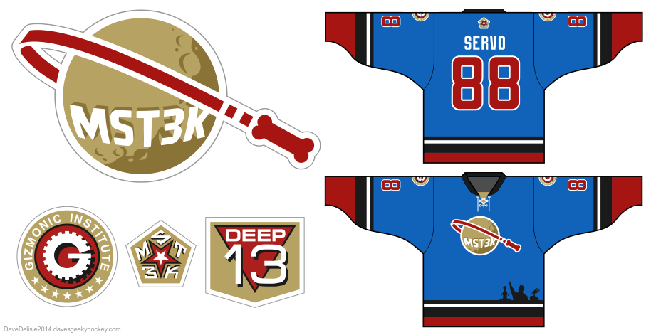 MST3K hockey jersey design by Dave Delisle