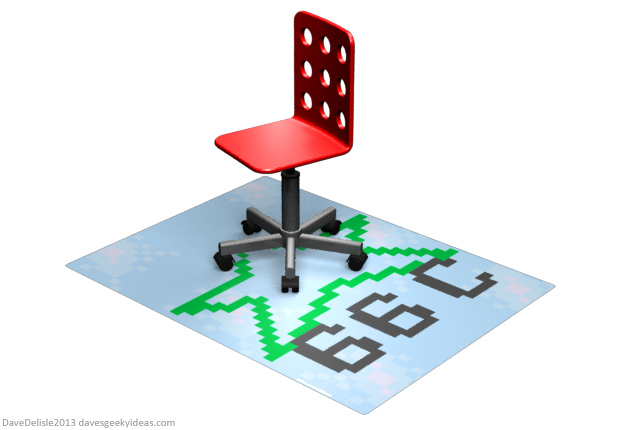 NHL94 Chair Mat by Dave's Geeky Ideas