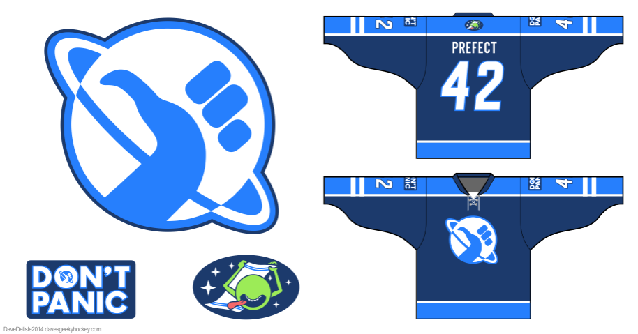 Hitchhikers hockey jersey by Dave Delisle