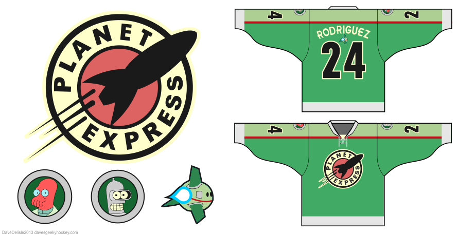 Futurama hockey jersey by Dave Delisle