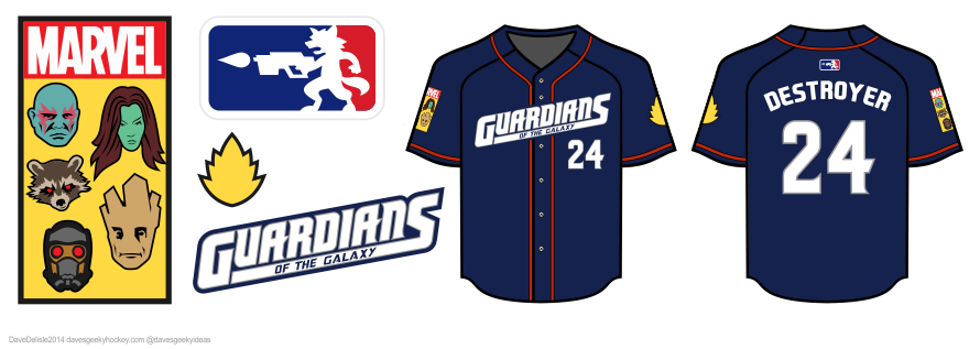 gotg baseball jersey design by dave delisle