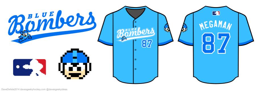 Mega Man Baseball Jersey