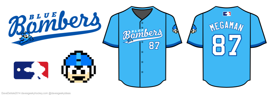 Mega Man Baseball jersey design