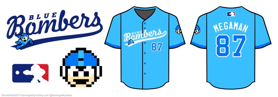 mega man baseball jersey by Dave Delisle