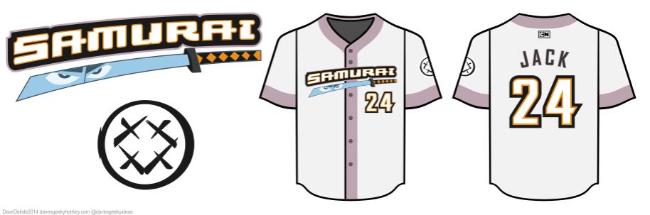 Samurai Jack Baseball Jersey