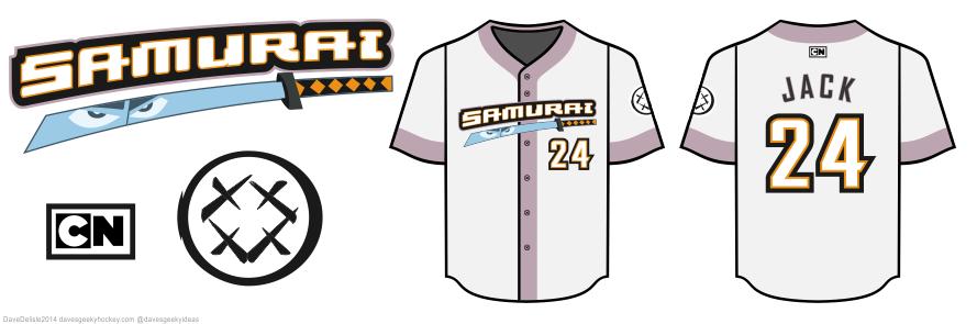 samurai jack baseball jersey by dave delisle