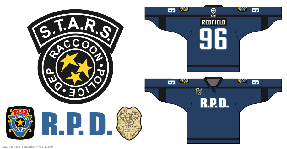 Resident Evil hockey jersey by Dave Delisle